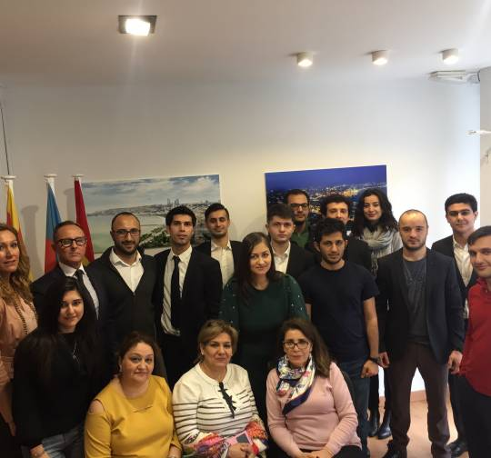 "The opening of ""Casa Azerbaiyan"" in Barcelona, Spain."