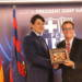 An official visit of the Azerbaijani delegation to the FC Barcelona football club.